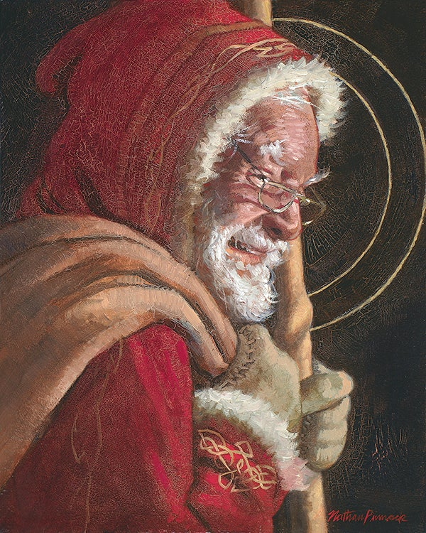 Image of Santa | Christmas Original Oil Painting by Nathan Pinnock