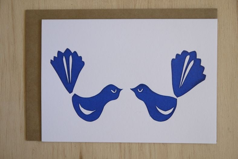 Image of Kissing Fantails card
