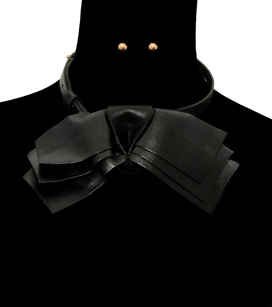 Image of Leather Choker Necklace Set