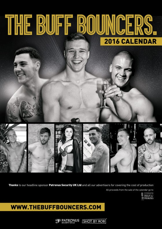 Image of THE BUFF BOUNCERS CHARITY CALENDAR 2016