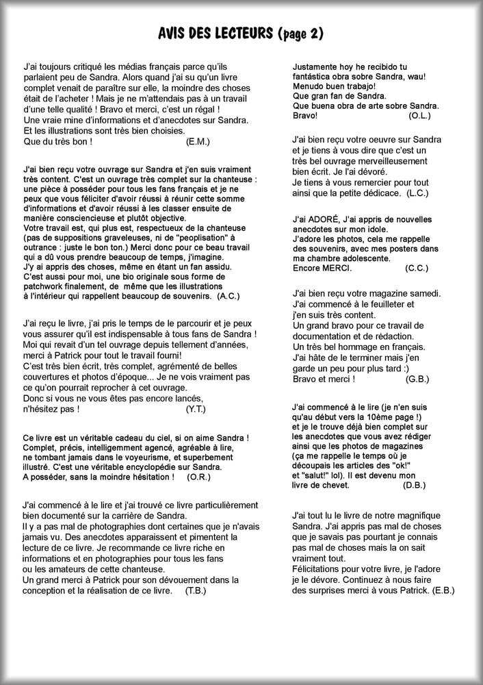 Image of SANDRA de A à Z (FOREVER) - avis des lecteurs (2)