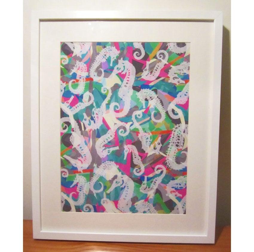 Image of Seahorse Framed Print