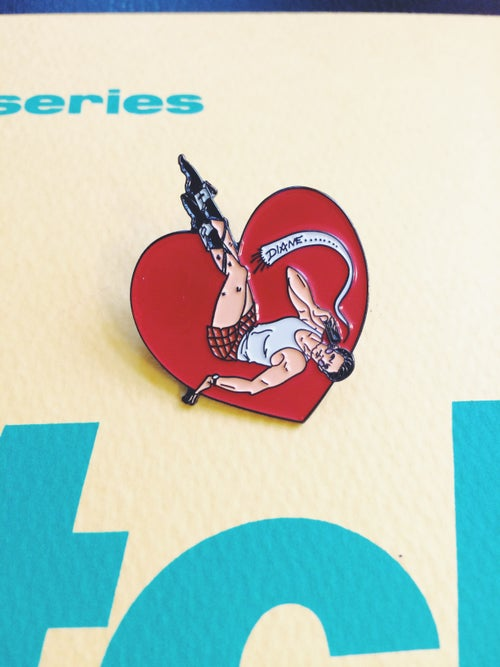 "Image of Special Agent Dale Cooper ""Diane"" pin-up enamel pin"