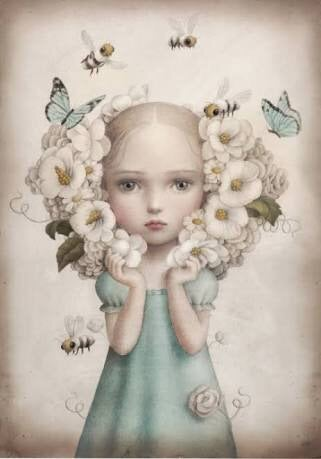 Image of INFLORESCENCE Hand Finished Limited Edition Print by Nicoletta Ceccoli