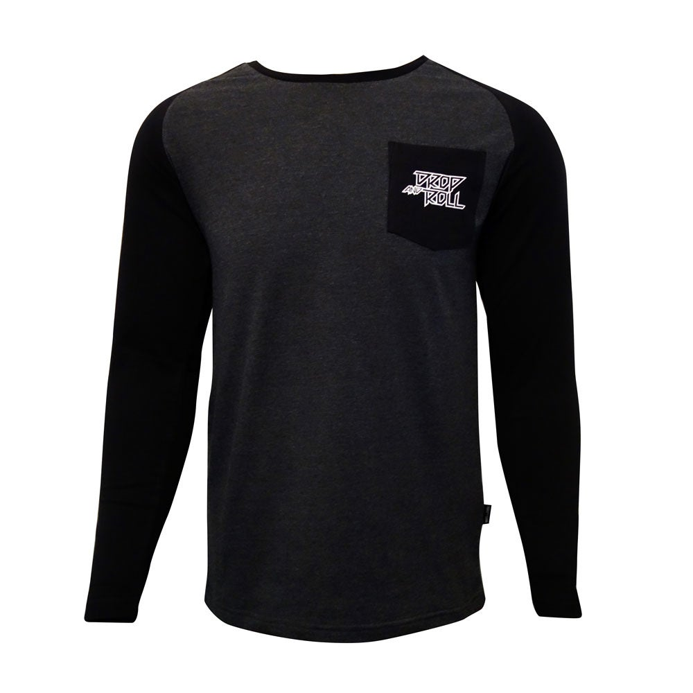 Image of Kids Drop and Roll Black and Grey Long Sleeve