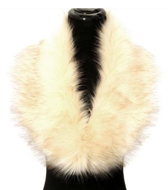 Image of White Faux Fur Collar