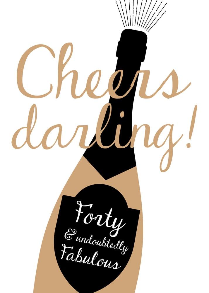 Image of Cheers Darling Print