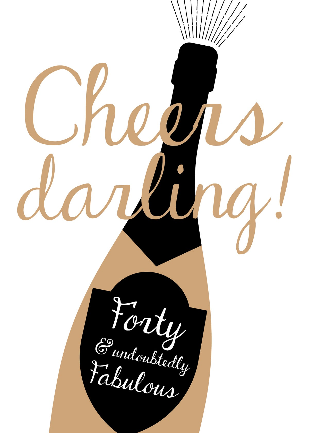 Cheers Darling Print