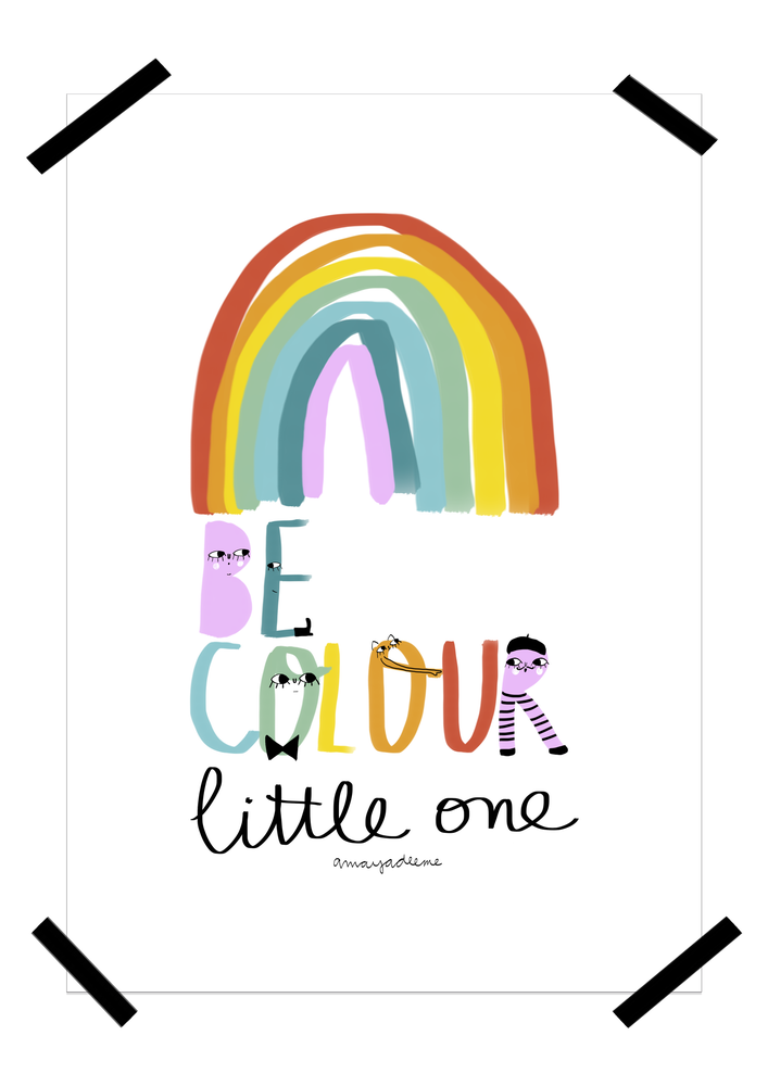 "Image of Póster ""Be Colour"""