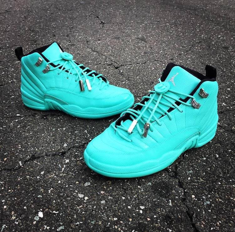 Custom Tiffany Jordan 12s   Kairos Customs b66820b885d5