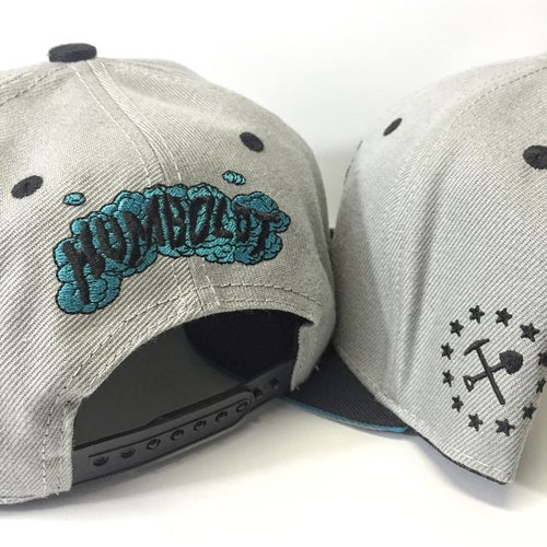 "Image of ""Land of the Trees"" Embroidered Snapback Hat"