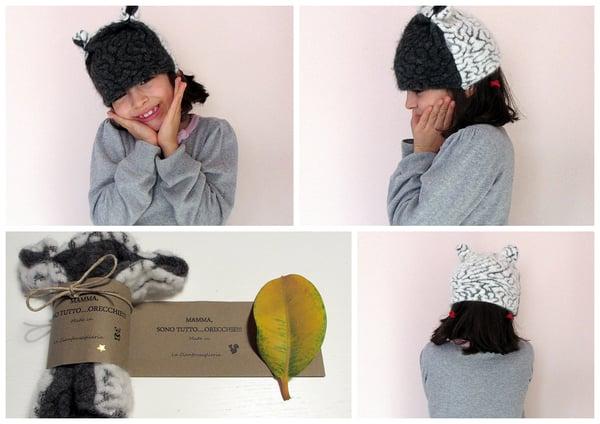 Image of Berretto Panda con orecchie- Panda hat