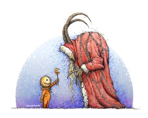 Image of 'Holiday Horrors Meet' print