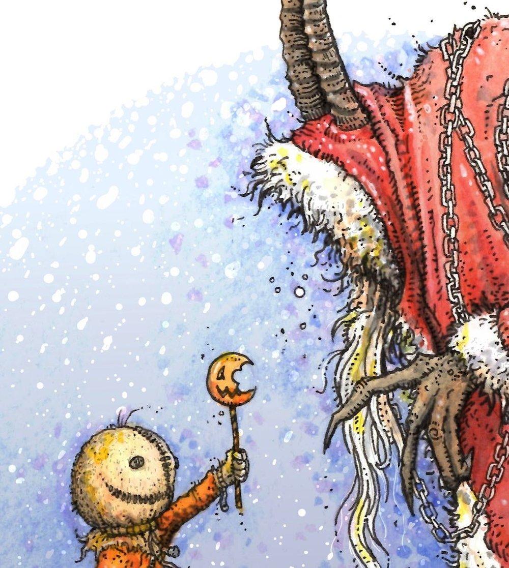 'Holiday Horrors Meet' print