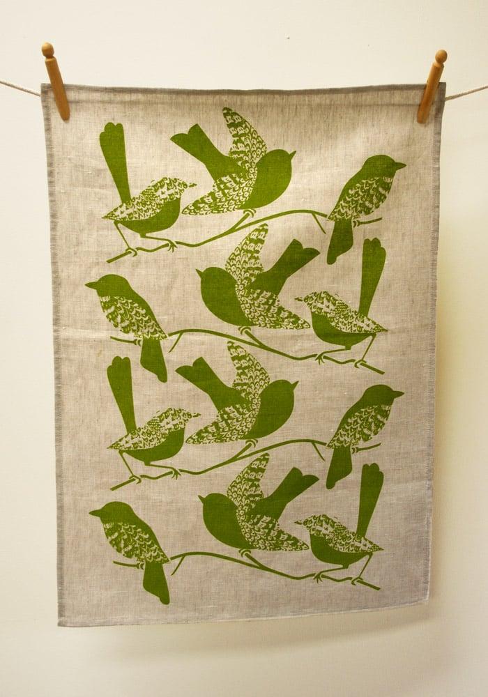 Image of Birds Tea Towel