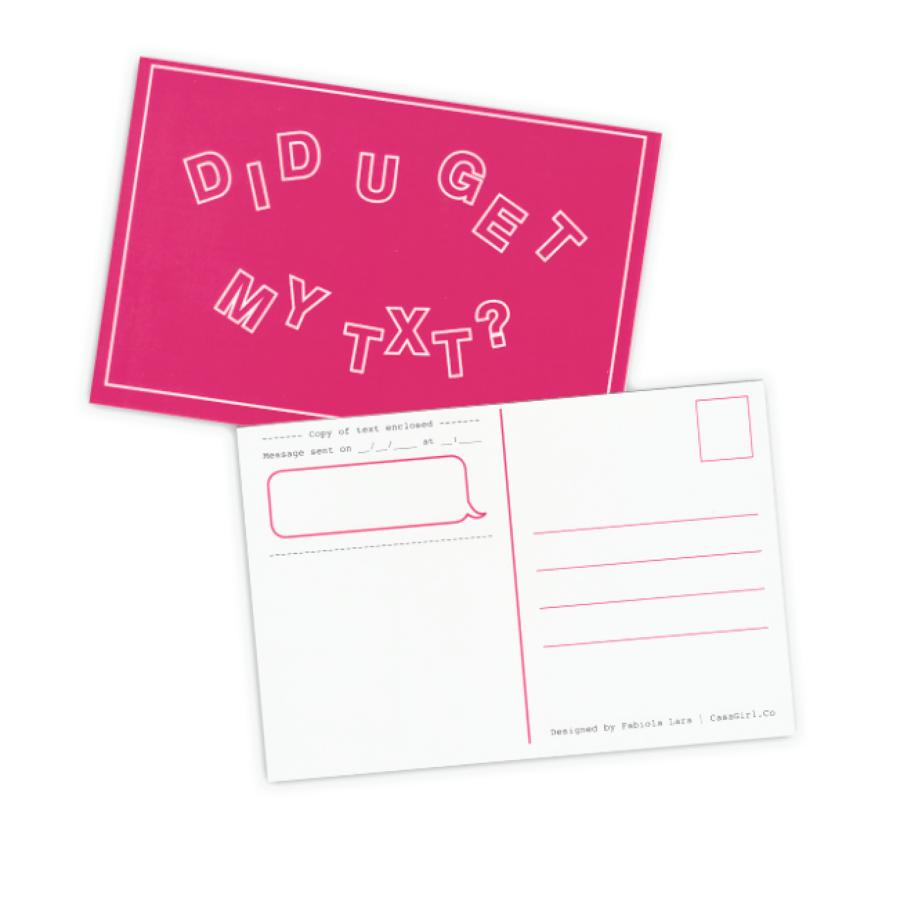 Image of Postcards: Did U Get My Text?