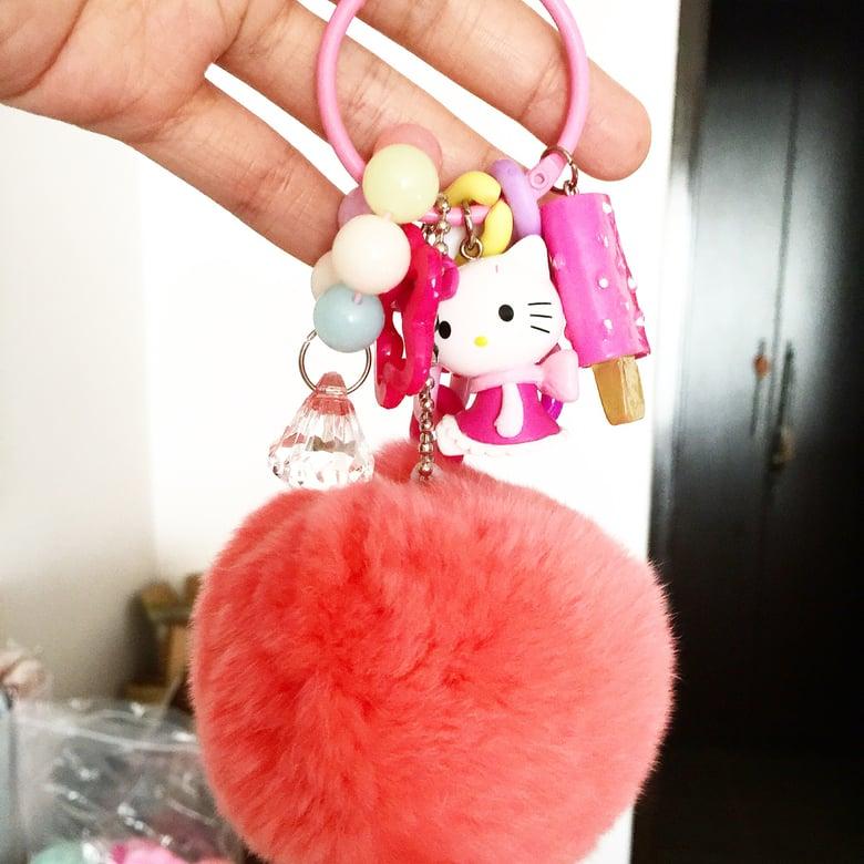 Image of HK pompom keychains