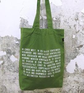 """Image of Stoffbeutel """"Aufklärer"""" grün - verschiedene Motive"""