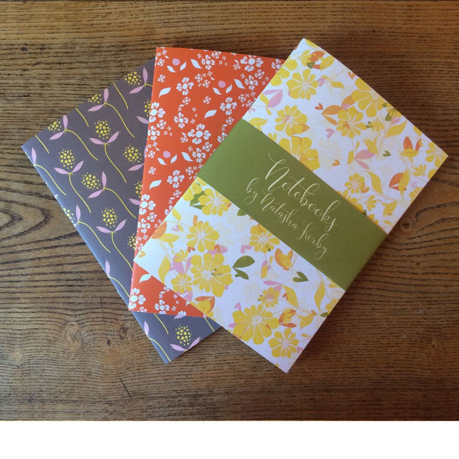 Image of A5 Notebooks - Set of 3 - Yellow Poppy