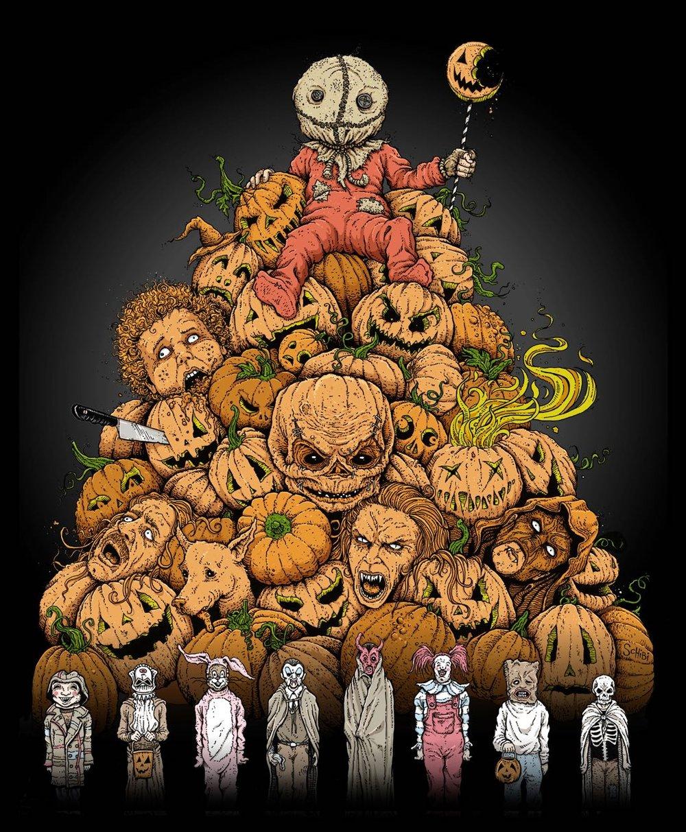 'King of Halloween: SAM!' print