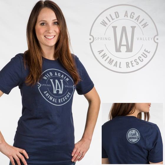 Image of Wild Again Logo Tee shirt - Navy