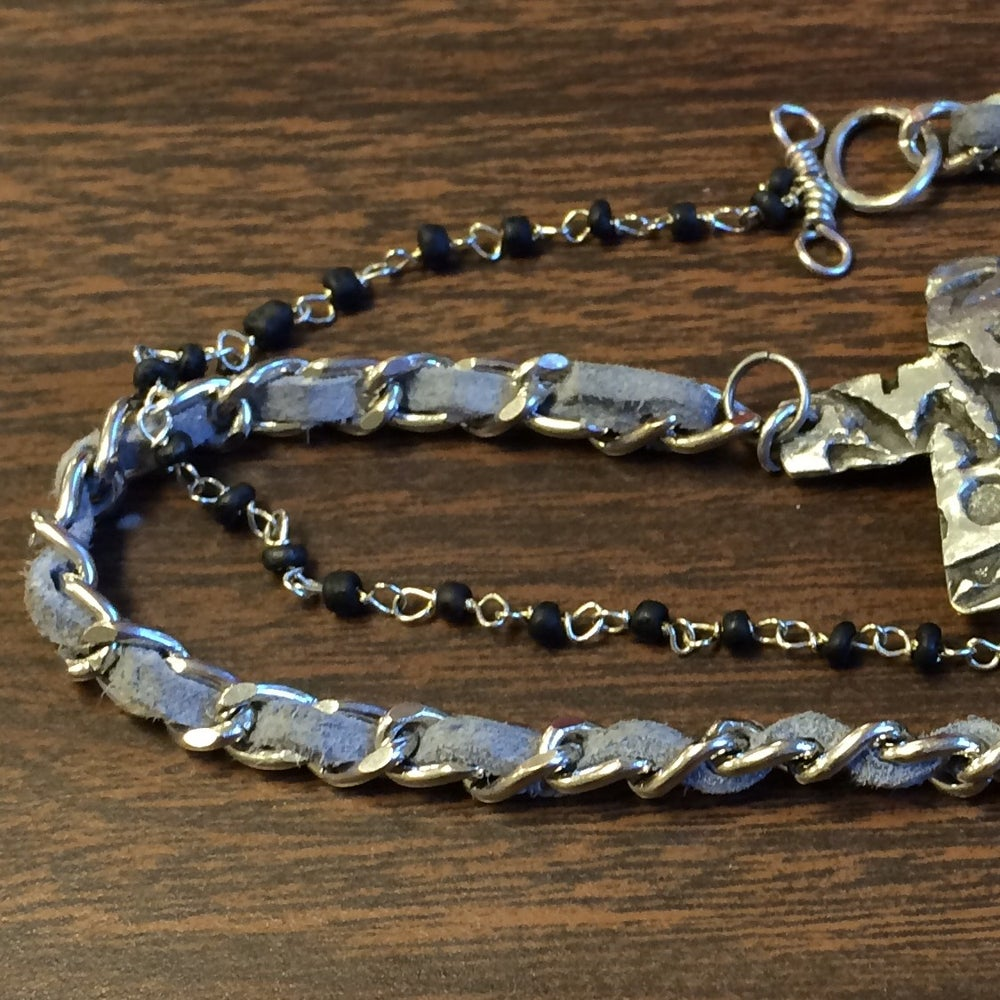 Image of Stamped Cross Bracelet