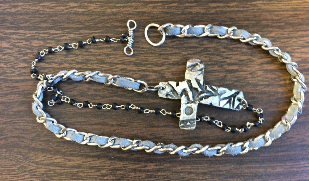 Image of Stamped Cross Bracelet