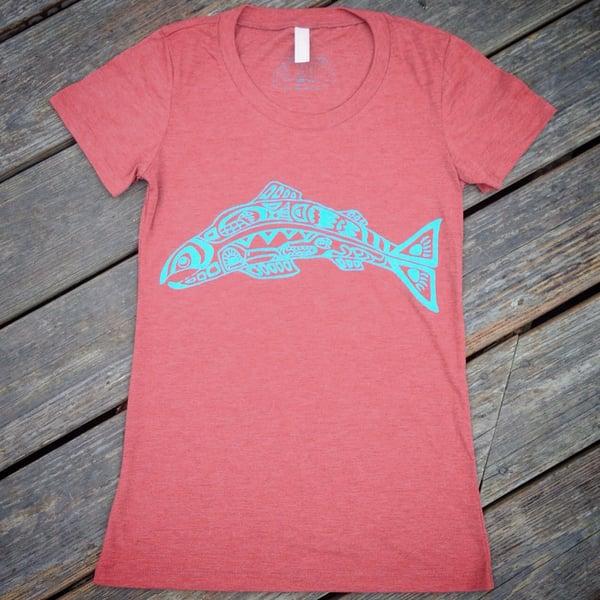 Image of Salmon Spirit- women's triblend tee