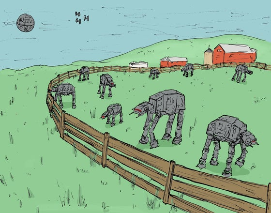 "Image of ""AT-AT Farm"""
