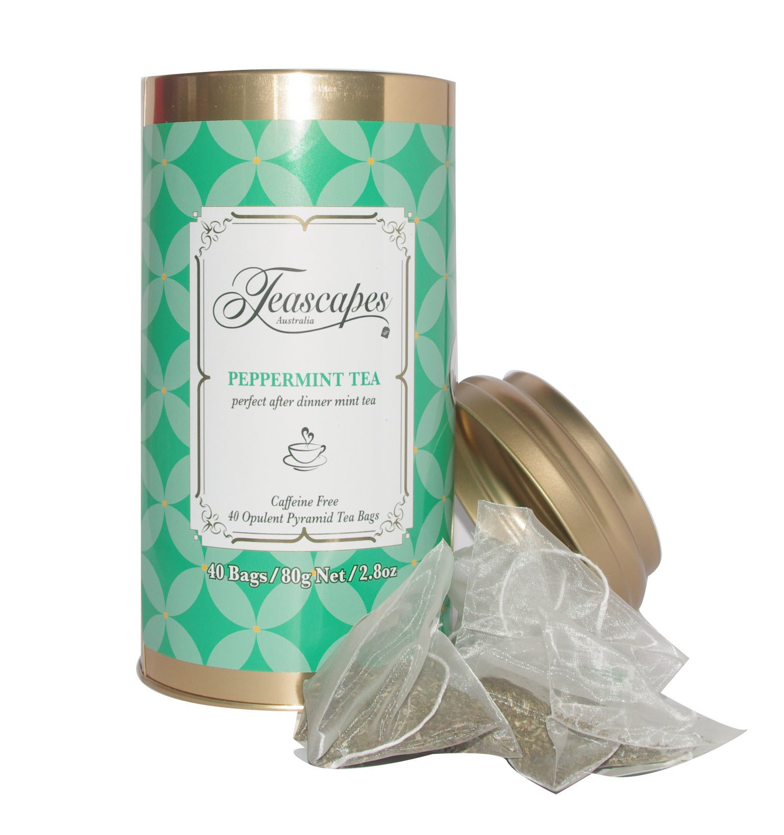 Image of Peppermint, Opulent Pyramid Tea Bags