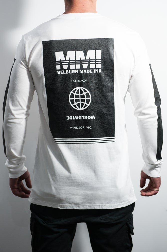 Image of Melburn Made Worldwide Long Sleeve White