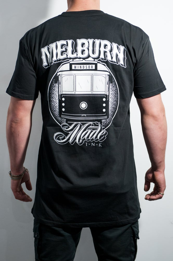Image of Melburn Made Tram Tee Regular Fit Black