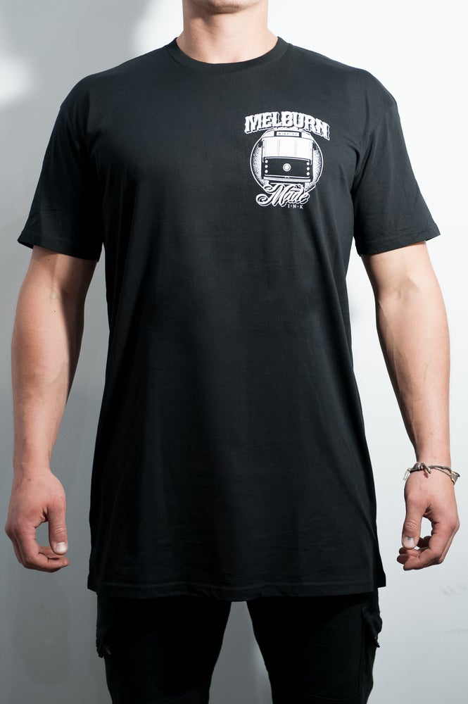 Image of Melburn Made Tram Tee Regular Fit Black