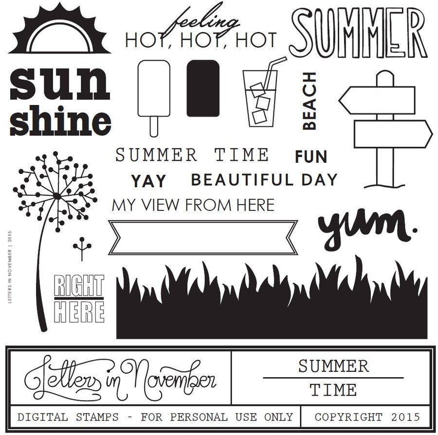 Image of Summer Time Digital Stamp