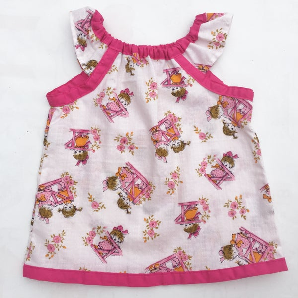 Image of Vintage dress/top - size 12mths - pink friends