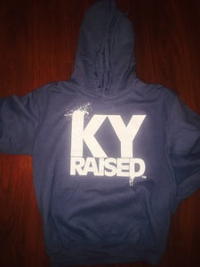 Image of KY Raised Cobalt / White Hooded Sweatshirt