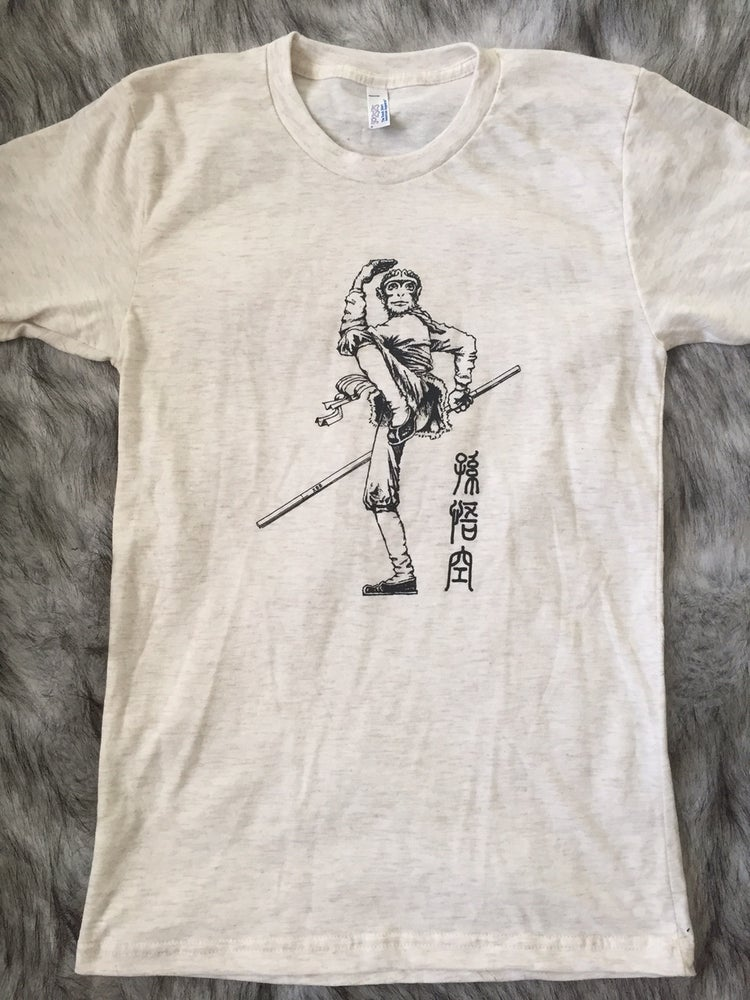 Image of Unisex Monkey King T-shirt (OATMEAL)