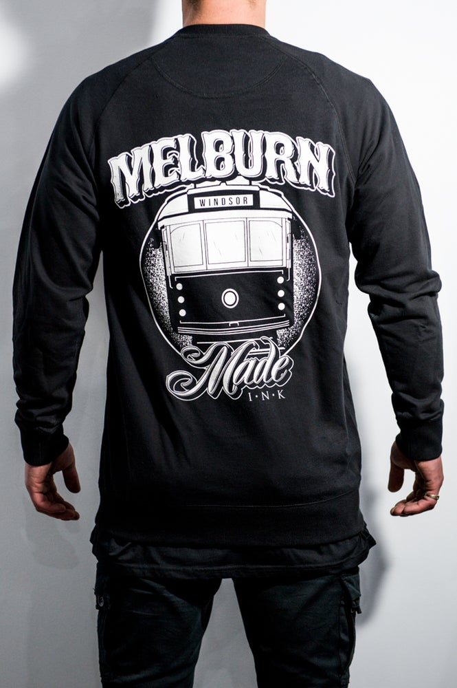 Image of Melburn Made Two-Way Logo Crewneck