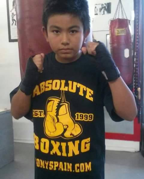 Image of Absolute Boxing T-shirt (Black/Gold or Gray/Navy)