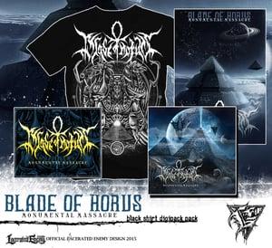 Image of BLADE OF HORUS - Monumental Massacre Shirt Bundle - BLACK TS