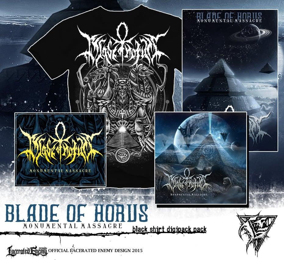 BLADE OF HORUS - Monumental Massacre Shirt Bundle - BLACK TS