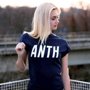 "Image of ""ANTH"" Tee (Navy Blue) w/ FREE Anth Wristband"