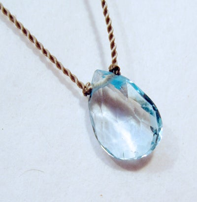 Image of Blue Topaz Whisper Necklace