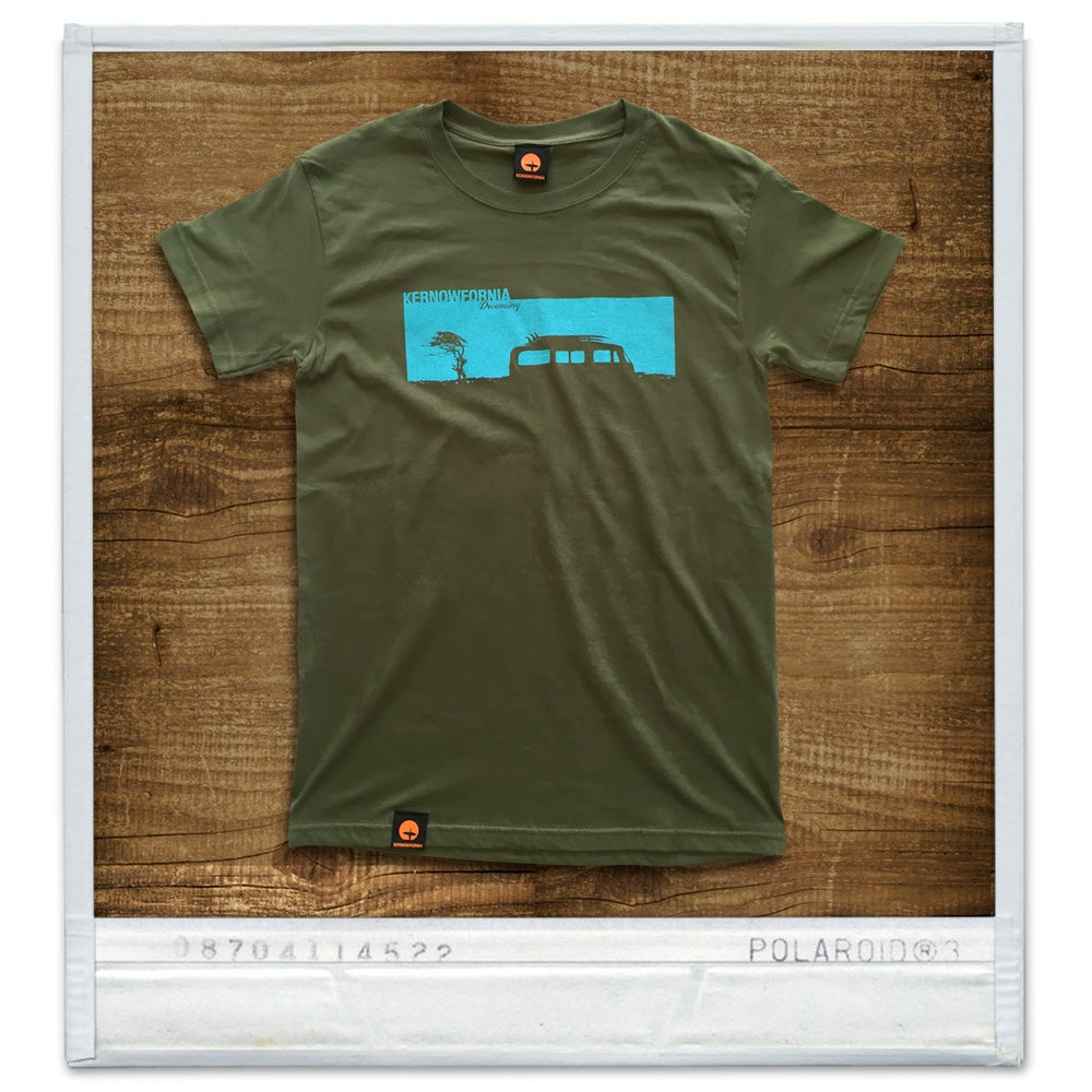 Image of Mens - Campervan T-shirt (Olive or brown)