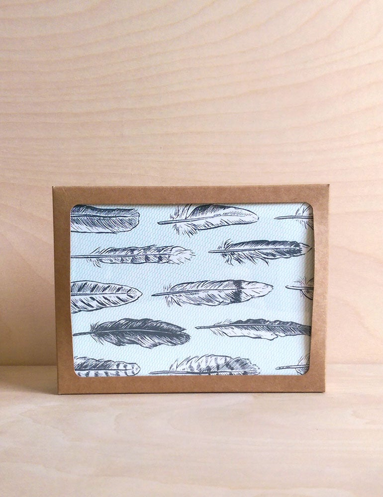 Image of Pack of 8: Feathers Cards