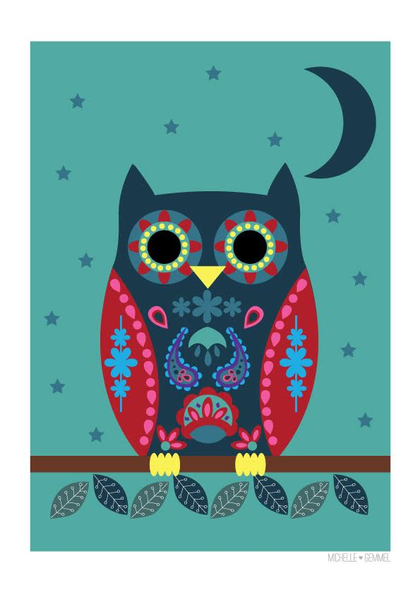Image of Moonlight Owl by Michelle Gemmel