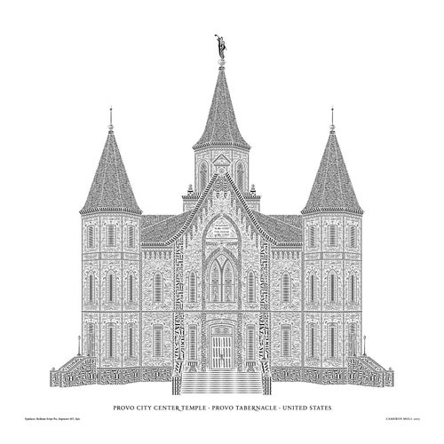 Image of Provo Tabernacle in Type