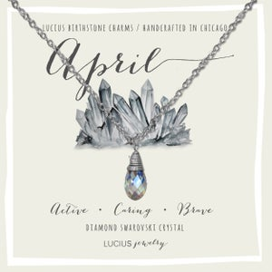 Image of LUCIUS Birthstone Charms - April