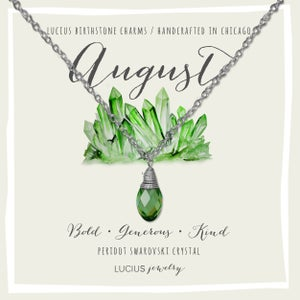 Image of LUCIUS Birthstone Charms - August