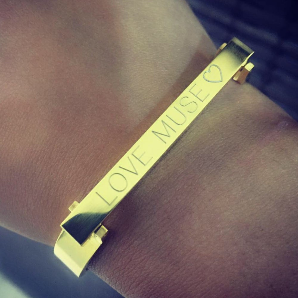 Image of Customized 'Love Bar' bracelet